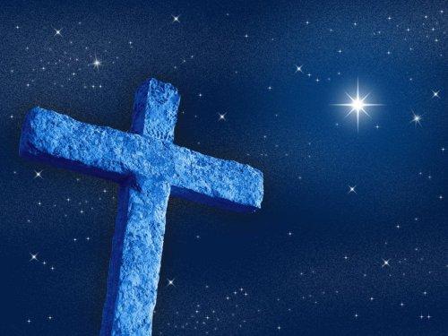 cross and star sky