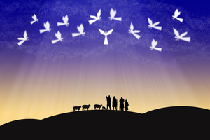 shepherds and angels